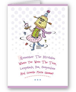 Funny Birthday Drinking Card